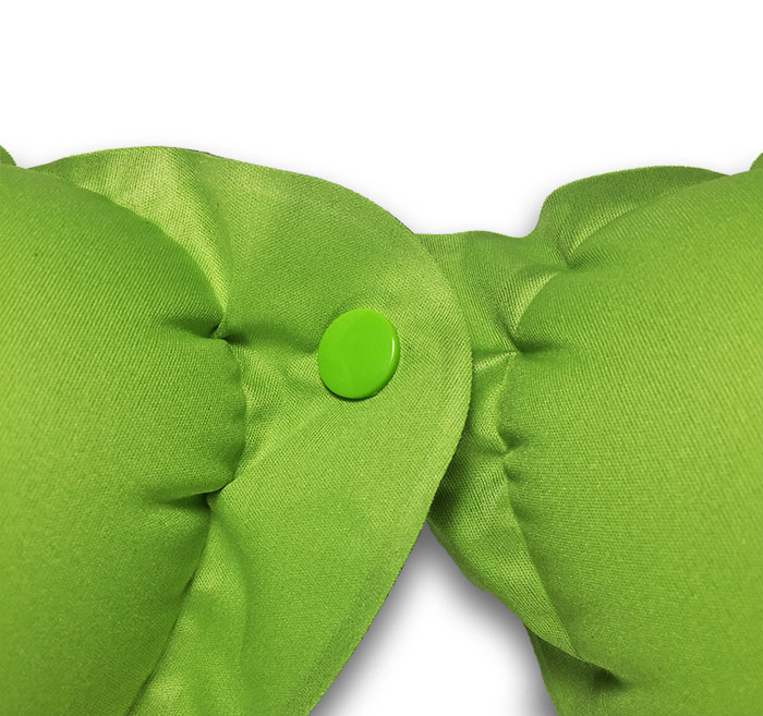 Naturehike zelený cestovní polštářek kolem krku do letadla s knoflíkem